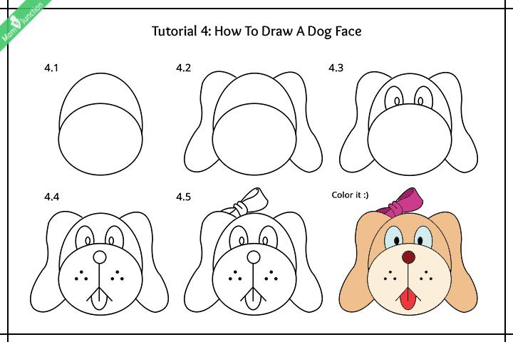 چگونه یک سگ دراز کشیده ترسیم کنید