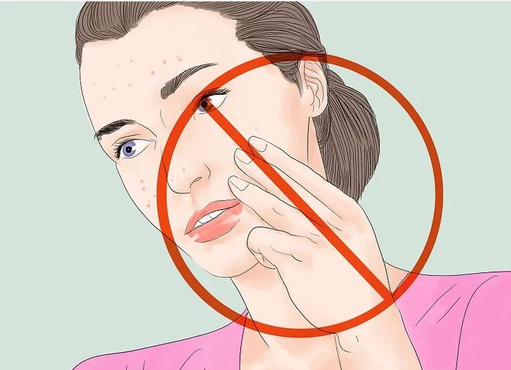 از لمس کردن صورتتان پرهیز کنید