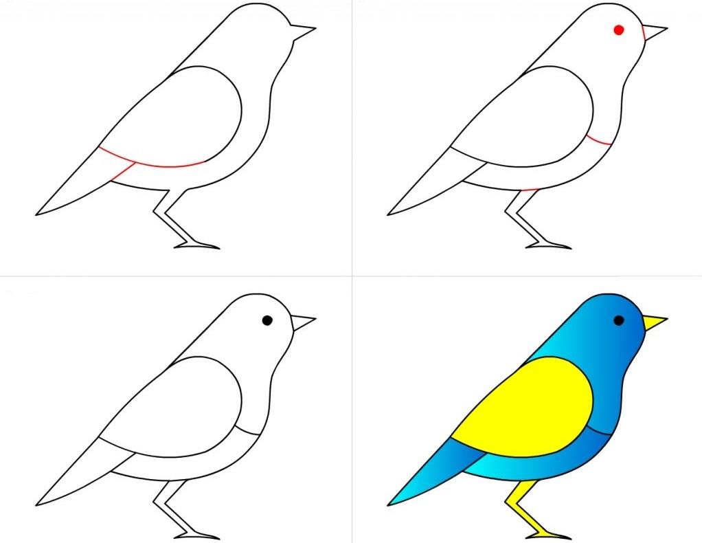 """چگونه در چند مرحله ساده و آسان برای کودکان """"پرنده"""" بکشیم + آموزش ساخت کاردستی پرنده"""