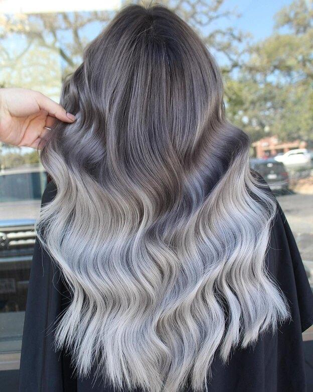 مدل رنگ موی آمبره 2