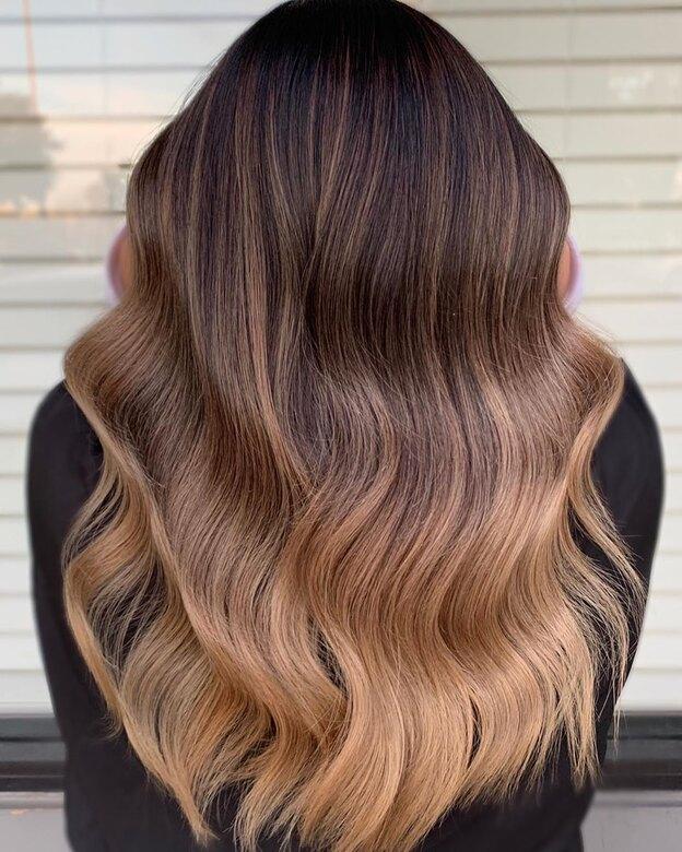 مدل رنگ موی آمبره 1