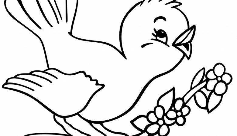 آموزش گام به گام کشیدن نقاشی پرنده ساده برای کودکان