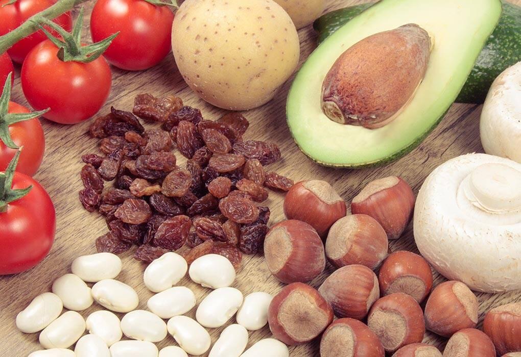منابع غذایی حاوی پتاسیم