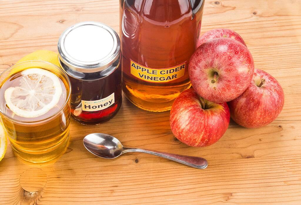 عسل با سرکه سیب