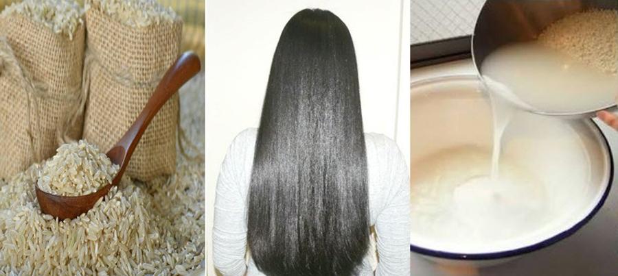 نحوه استفاده از آب برنج برای مو