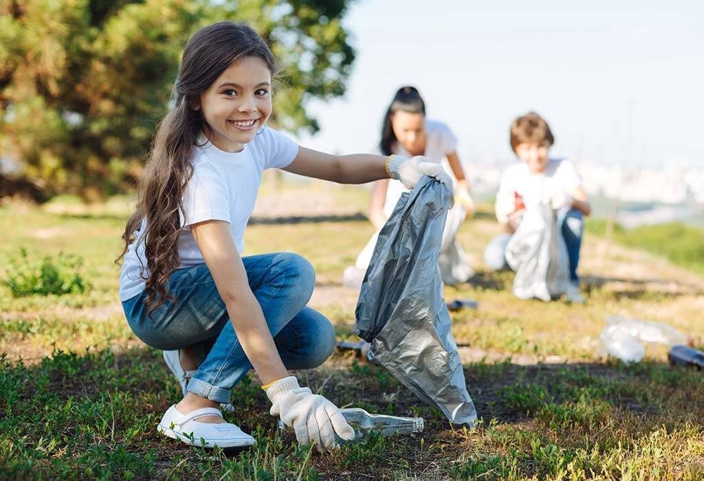 با همکاری فرزند خود، کارهای داوطلبانه انجام دهی