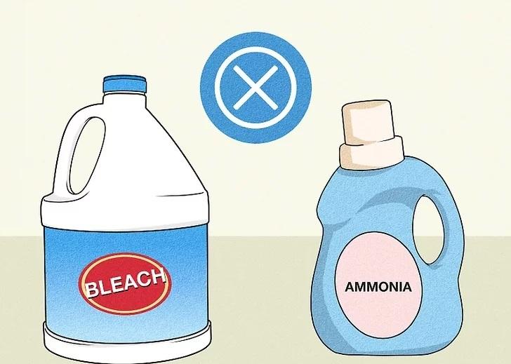 برای استفاده بی خطر از سفید کننده آن را ترکیب نکنید