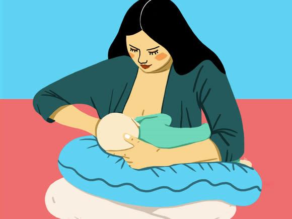 وضعیت بدنی برای شیردهی، نگهداری بغل ضربدری