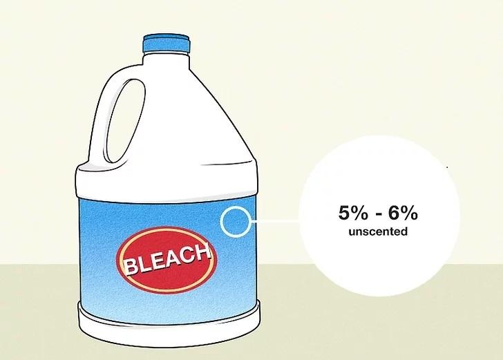 ضد عفونی کردن سطوح با سفید کننده 5٪ -6٪ معمولی بدون بو