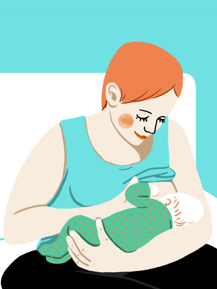 وضعیت بدنی برای شیردهی، نگهداشتن گهواره ای