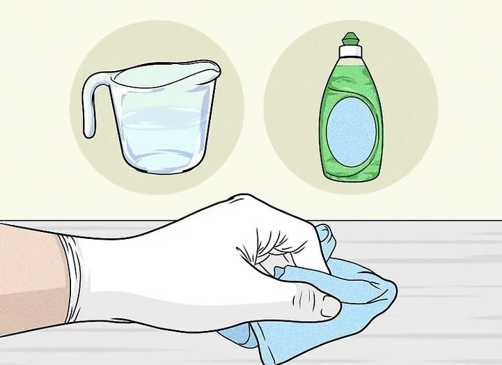 ضد عفونی کردن سطوح با سفید کننده و مایع ظرف شویی