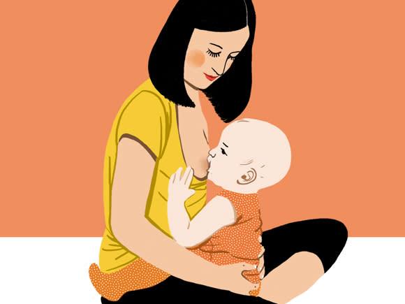وضعیت بدنی برای شیردهی، شیردهی عمودی