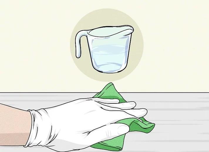 ضد عفونی کردن سطوح با سفید کننده و آب