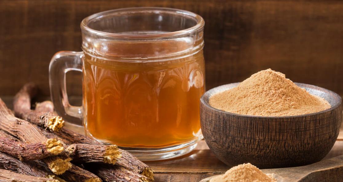 درمان طبیعی برای سرفه خشک با چای ریشه شیرین بیان