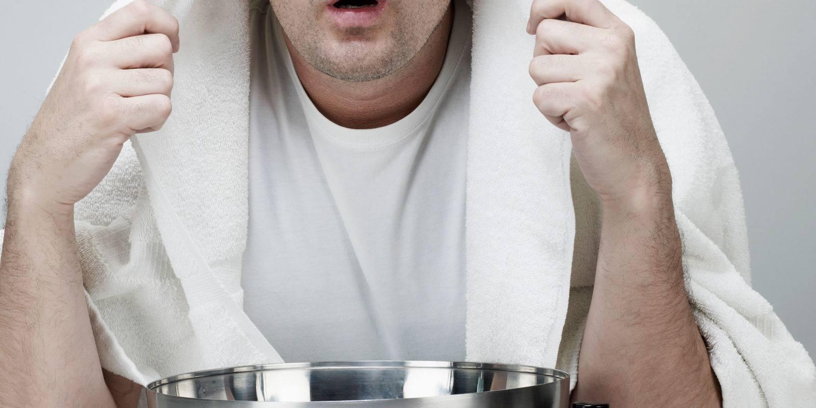 درمان طبیعی برای سرفه خشک با بخار